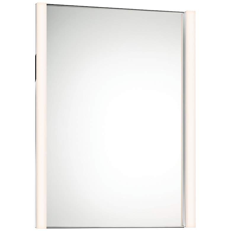 "Sonneman Slim 27"" x 36 1/4"" Wall Mirror with 2-LED Lights"