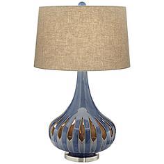 Racquel Ceramic Gourd Nightlight Table Lamp