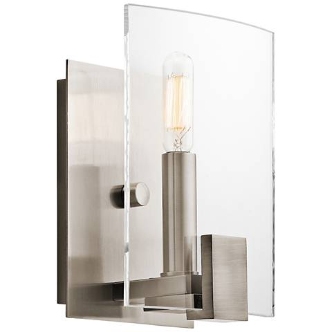 "Kichler Signata 8"" High Classic Pewter Wall Sconce"