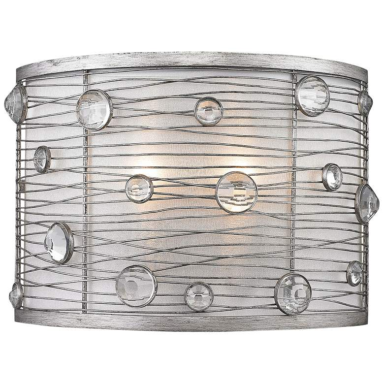 """Joia 7"""" High Peruvian Silver Wall Sconce"""