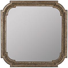 """Hedy Aged Dark Champagne 31 1/2""""x31 1/2"""" Wall Mirror"""