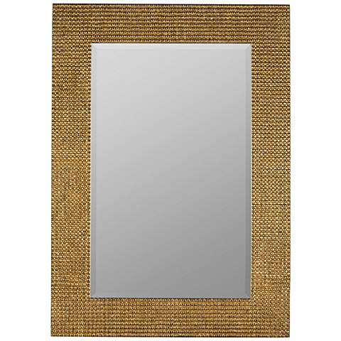 "Elwood Aged Gold 30""x42"" Decorative Wall Mirror"