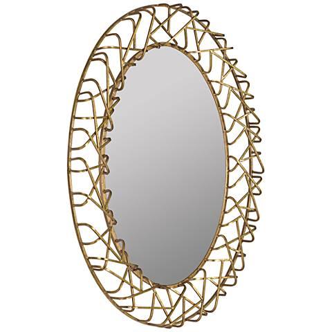 """Orson Gold Leaf 31"""" x 42"""" Decorative Oval Wall Mirror"""