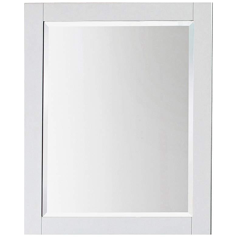 """Avanity White 24"""" x 30"""" Decorative Vanity Mirror"""