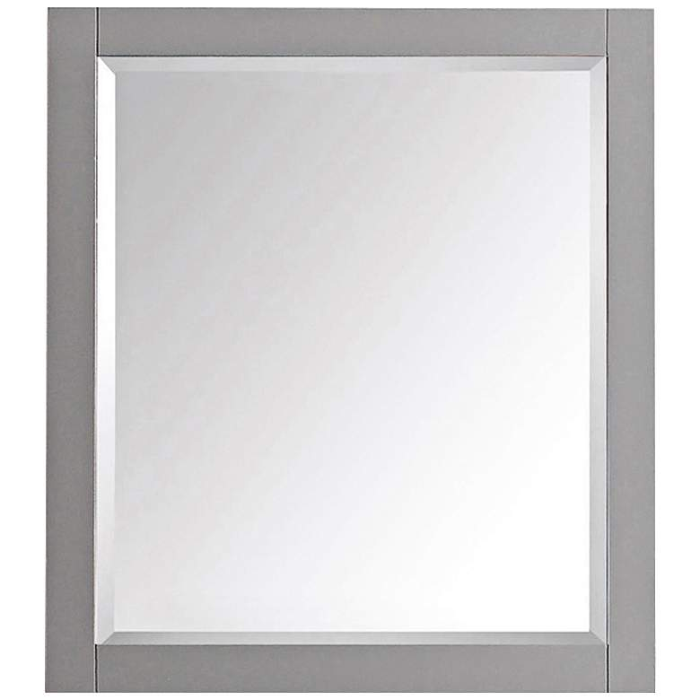 "Chilled Gray 28"" x 32"" Decorative Vanity Wall Mirror"