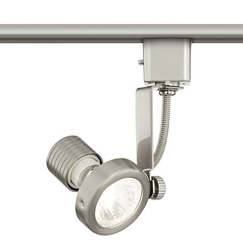 Brushed Steel LED Track Head for Lightolier Systems W/ Bulb