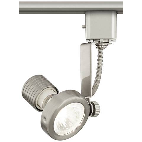 Halogen Track Head in Brushed Steel for Lightolier Systems