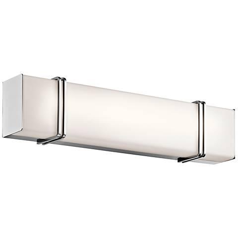 Kichler impello 24 14 wide led linear chrome bath light 8w011 kichler impello 24 14 wide led linear chrome bath light mozeypictures Images