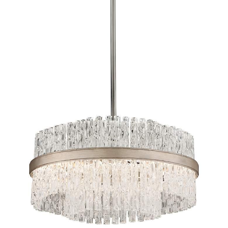 "Corbett Chime 20"" Wide Silver Leaf Pendant Light"