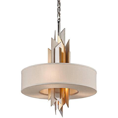 "Corbett Modernist 20"" Wide Stainless Steel Pendant Light"