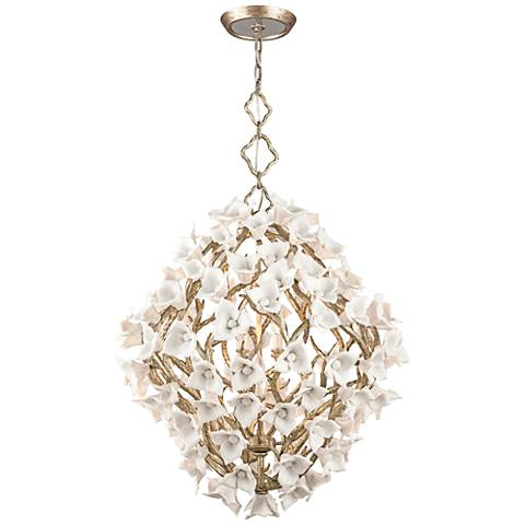 "Corbett Lily 32 1/4"" Wide Silver Leaf Pendant Light"