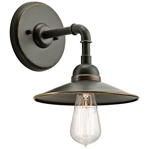 "Kichler Westington 8 1/4""H Olde Bronze Outdoor Wall Light"