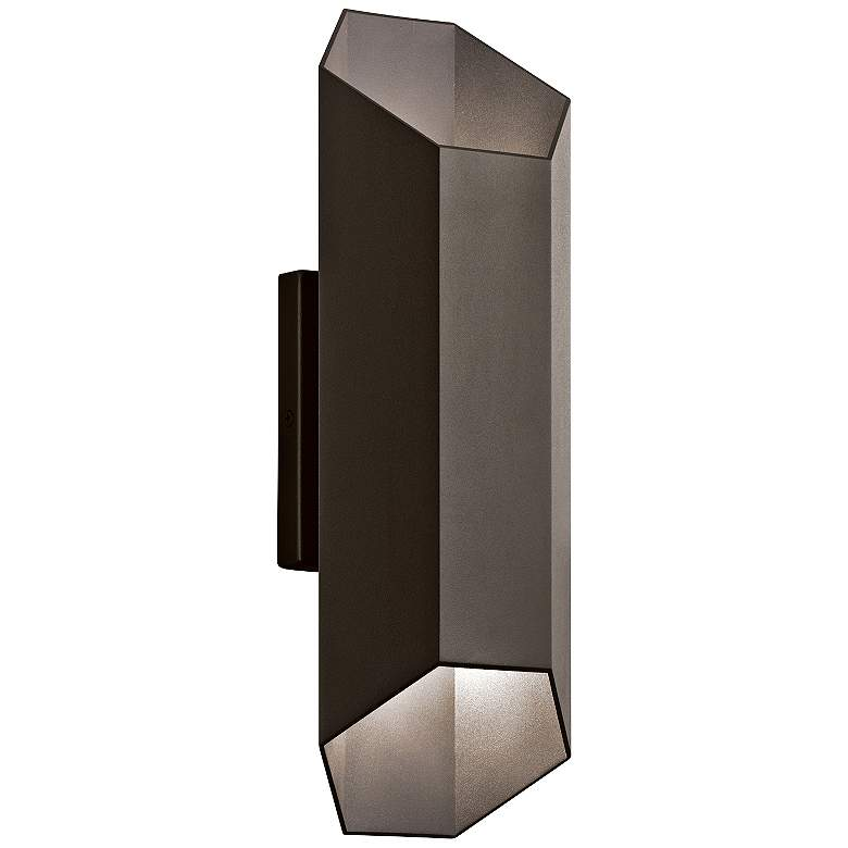 "Kichler Estella 16 1/2""H Bronze LED Outdoor Wall"