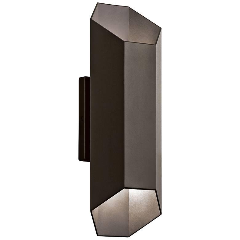 "Kichler Estella 16 1/2""H Bronze LED Outdoor Wall Light"
