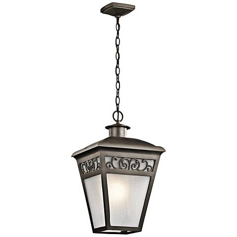 "Kichler Park Row 20 1/2""H Olde Bronze Outdoor Hanging Light"