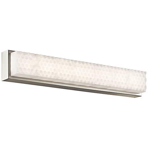 """Elan Merco 29"""" Wide Brushed Nickel LED Bath Light"""