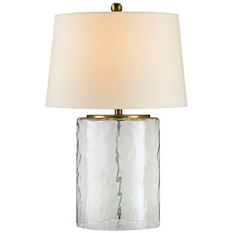 Currey and Company Oscar Clear Water Glass Table Lamp
