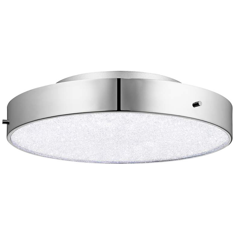 "Elan Crystal Moon 15 3/4"" Wide Chrome LED"