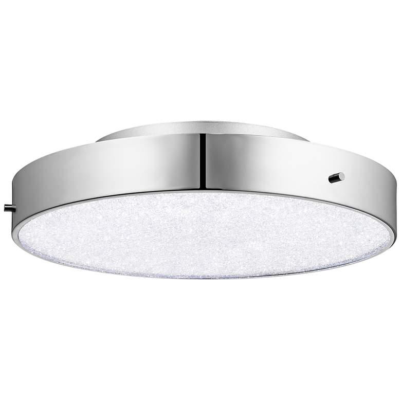 "Elan Crystal Moon 15 3/4"" Wide Chrome LED Ceiling Light"