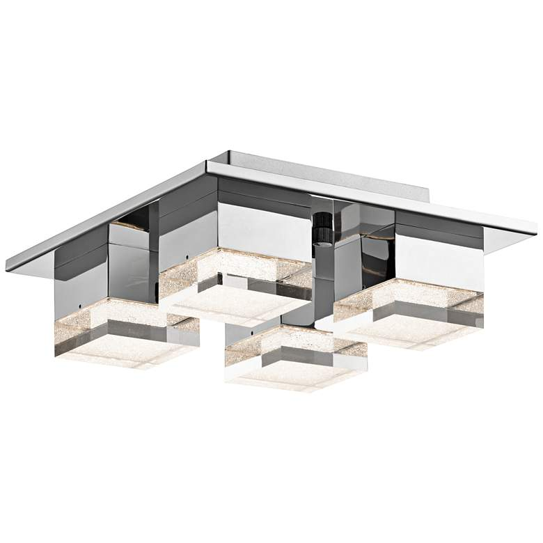 """Elan Gorve 12"""" Wide Chrome LED Ceiling Light"""