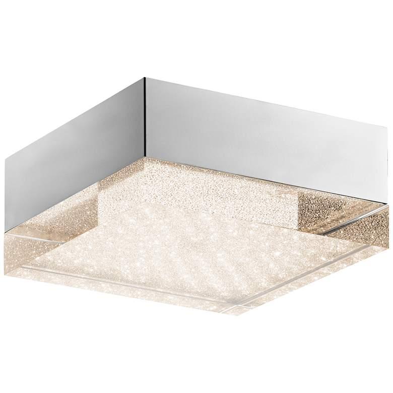 """Elan Gorve 10 1/4"""" Wide Chrome LED Ceiling Light"""