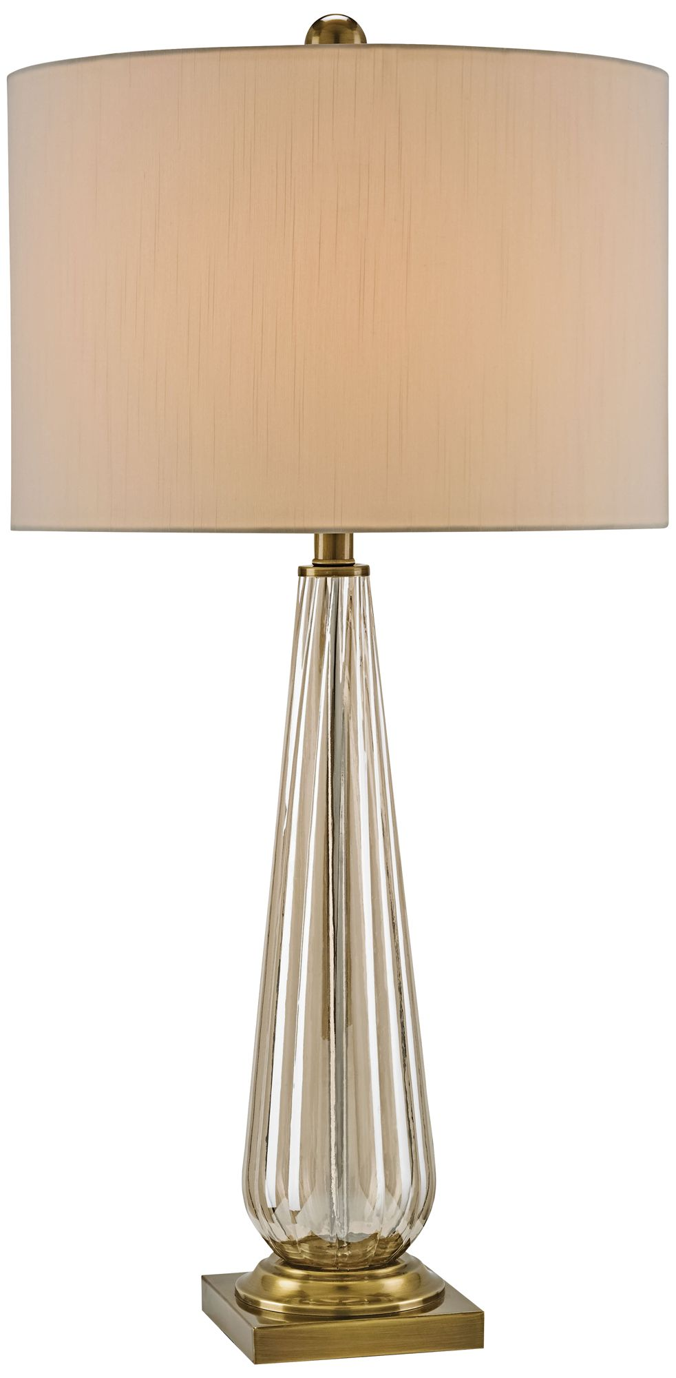 Currey And Company Daphne Amber Glass Table Lamp