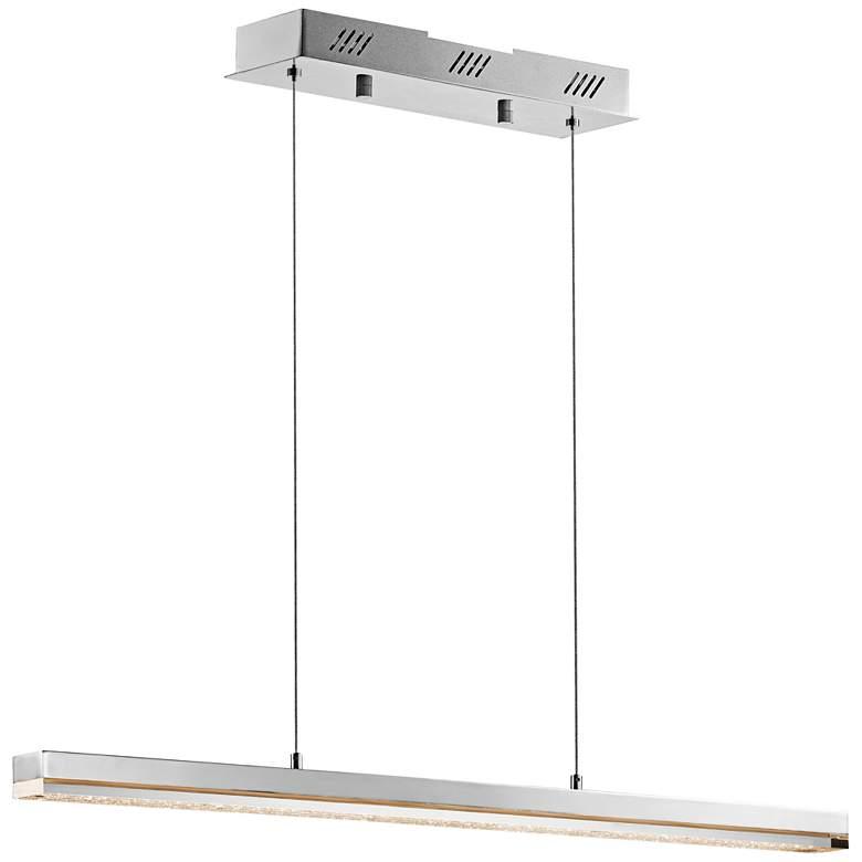 "Elan Gorve 39 1/4"" Wide Chrome LED Linear Pendant"