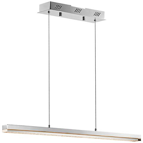 "Elan Gorve 39 1/4"" Wide Chrome LED Linear Pendant"