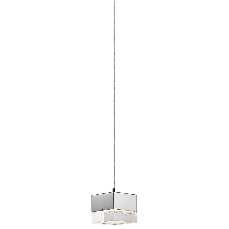 "Elan Gorve 4 3/4"" Wide Chrome LED Cube Mini Pendant"
