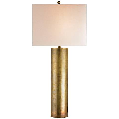 Currey and Company Constable Vintage Brass Table Lamp