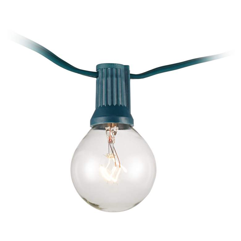 Clear 24-Bulb Green Wire 25' Holiday Party String Light