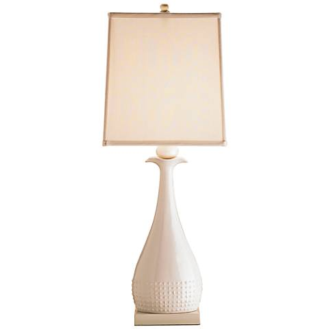 Currey and Company Ella White Ceramic Table Lamp