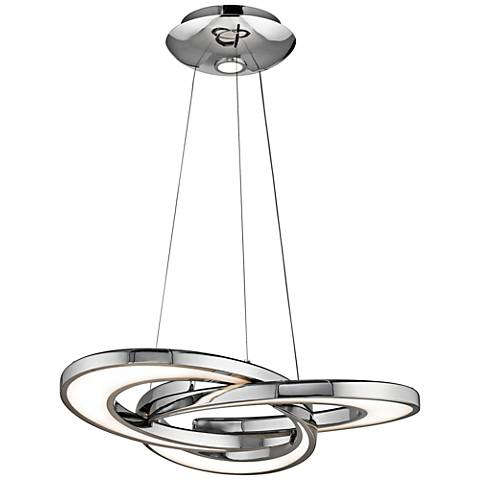 "Elan Destiny 27 3/4"" Wide Chrome LED Chandelier"