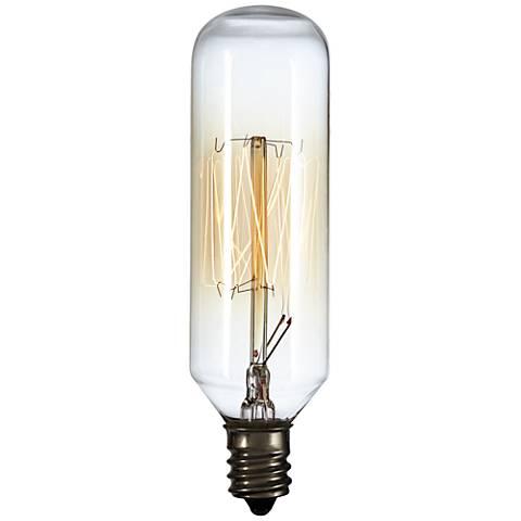 60 Watt T8 Edison Style Tube Candelabra Base Light Bulb