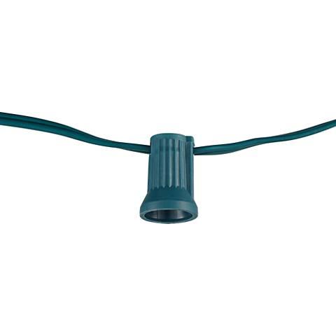 C7 Ten-Bulb Socket 20-Gauge 11' Green Party Light String
