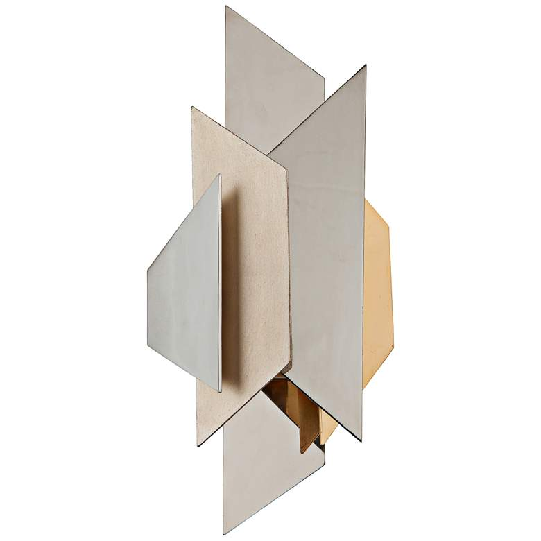 "Corbett Modernist 18 1/2"" High Polished Steel Wall Sconce"