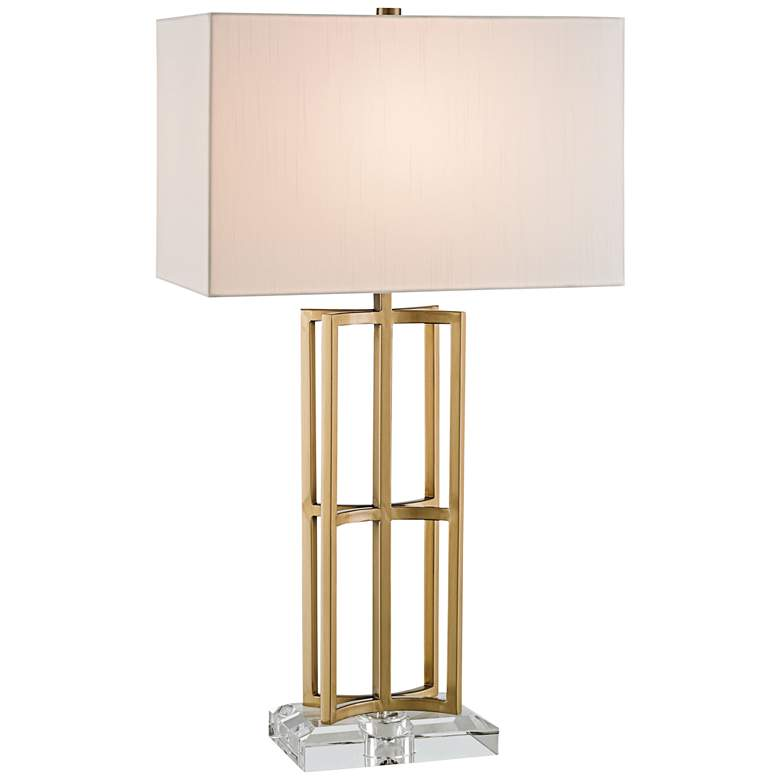 Currey and Company Devonside Coffee Brass Metal Table
