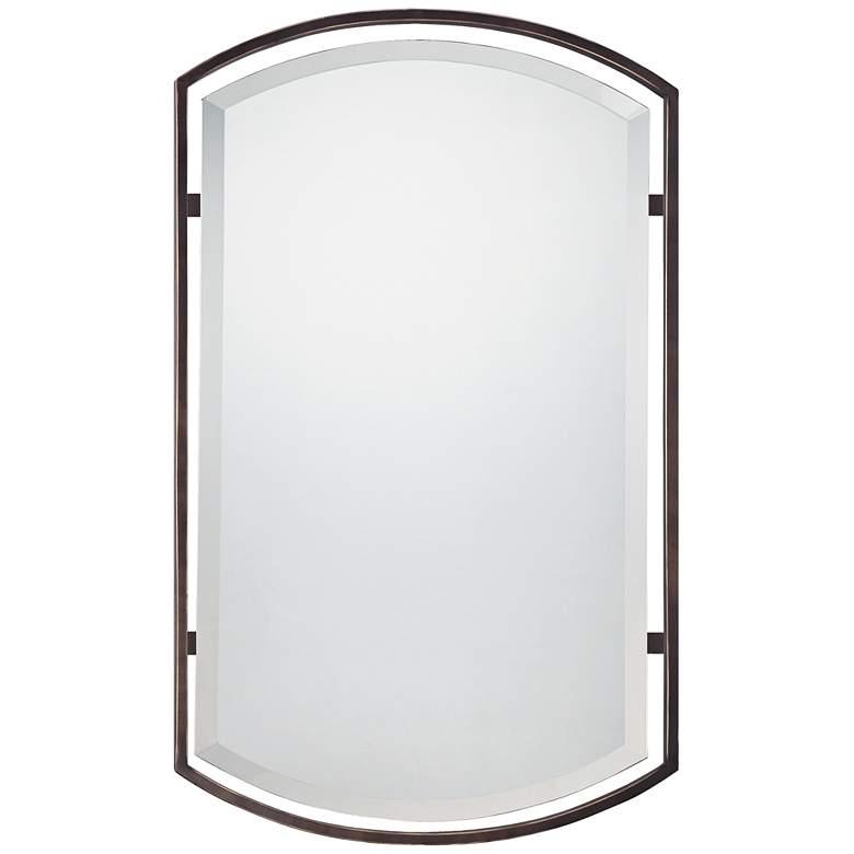 """Quoizel Breckenridge Bronze 21"""" x 35"""" Frame Wall Mirror"""