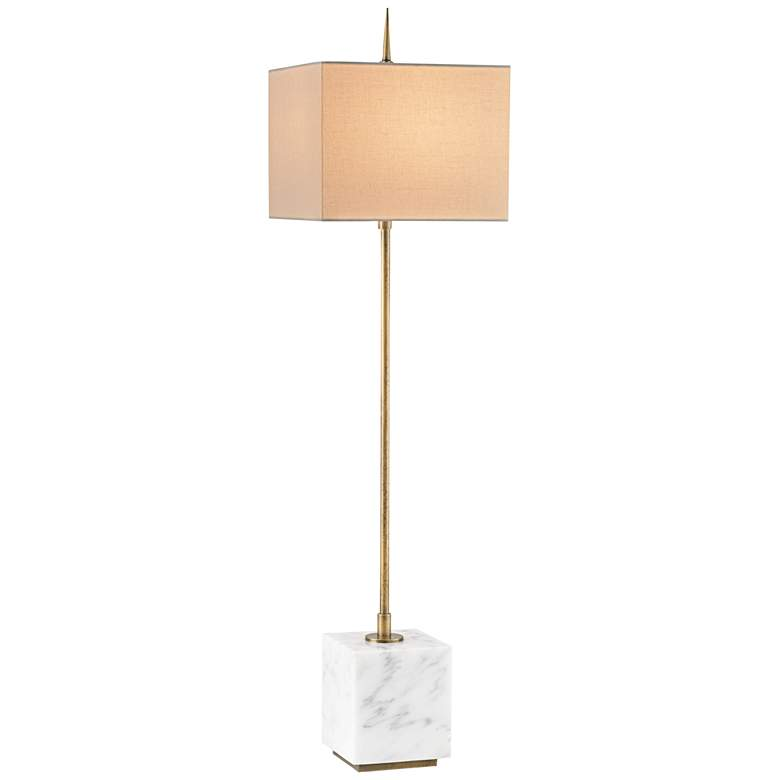 Currey and Company Thompson White Brass Console Table Lamp