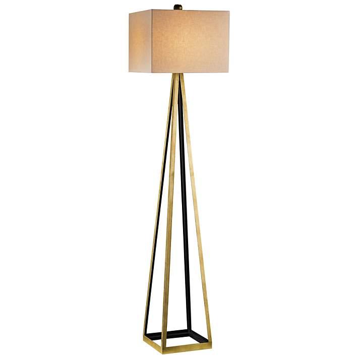 Bel Mondo Gold And Black Floor Lamp
