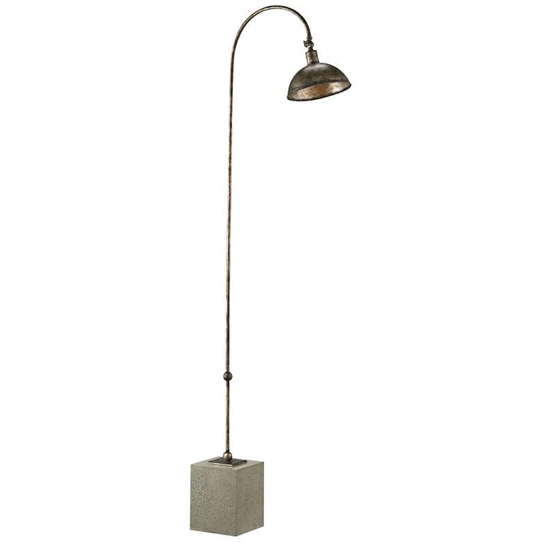 Currey and Company Finstock Pyrite Bronze Floor Lamp