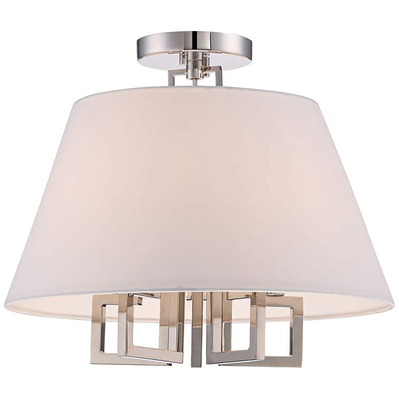 "Crystorama Westwood 16"" Wide 5-Light Nickel Ceiling Light"
