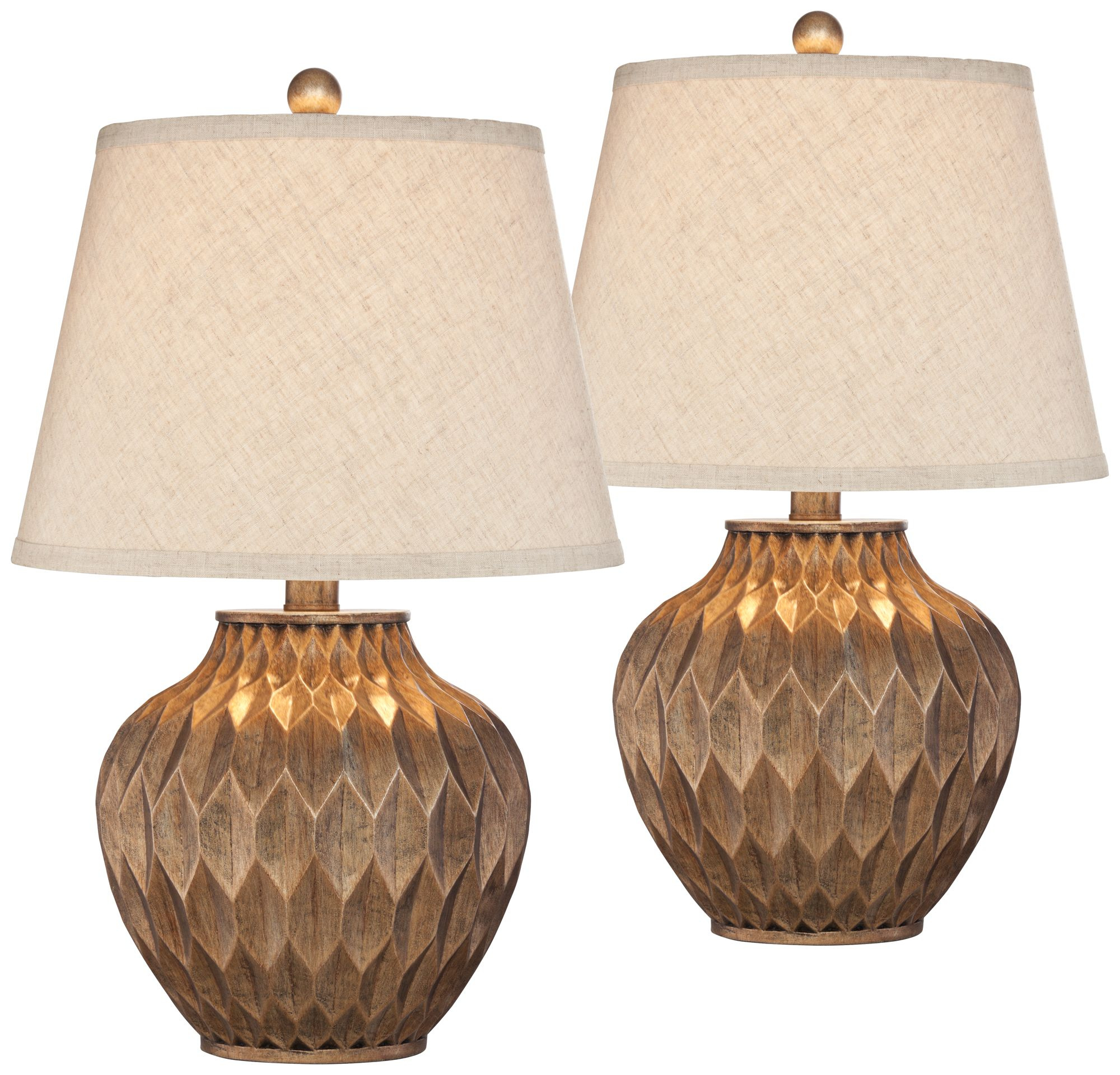 Buckhead Bronze Small Urn Accent Table Lamp Set Of 2