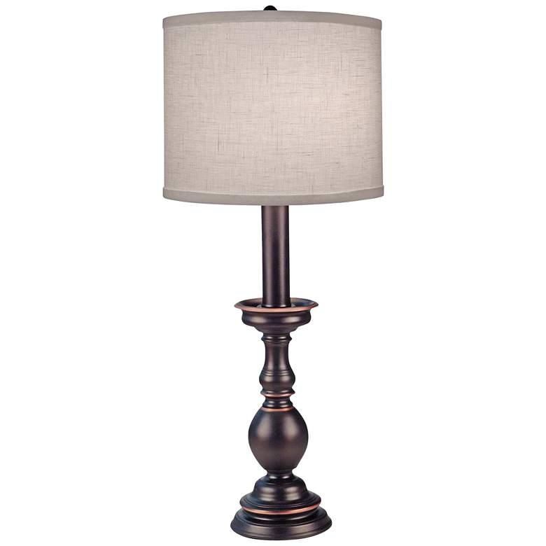 Stiffel Fianchetto Oxidized Bronze Buffet Table Lamp