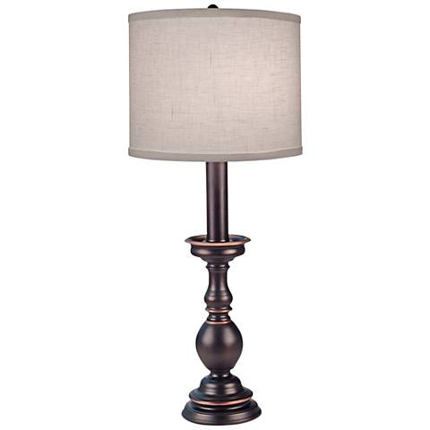 Stiffel Fianchetto Oxidized Bronze Buffet Table Lamp