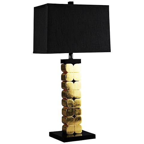 Corinthian Hand-Applied Gold Leaf Table Lamp