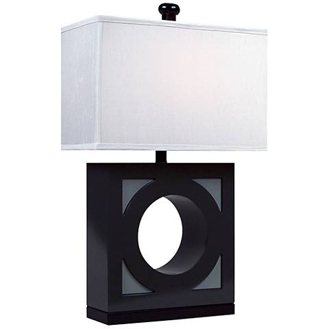 """""""The Groom"""" Two Toned Gloss Gray Table Lamp"""
