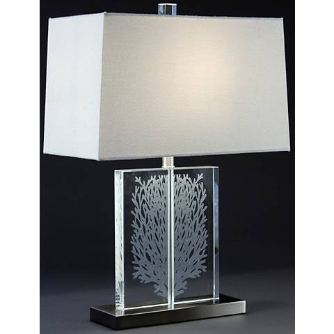 Coral Clear Glass Crystal Table Lamp