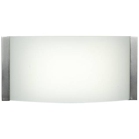 "Wave 9"" Wide Brushed Steel LED Bath Light"