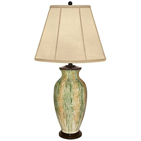 Brushstroke Abstract Hand-Painted Porcelain Table Lamp